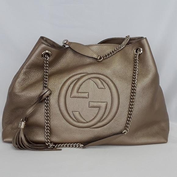 Gucci Handbags - New in Bag GUCCI 310306 Soho gold leather tote bag